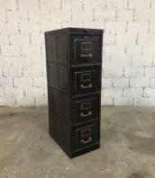 casier tiroirs strafor mobilier industriel 5francs 1 1 172x198 - Ancien casier 4 tiroirs STRAFOR décapé brossé poignées laiton