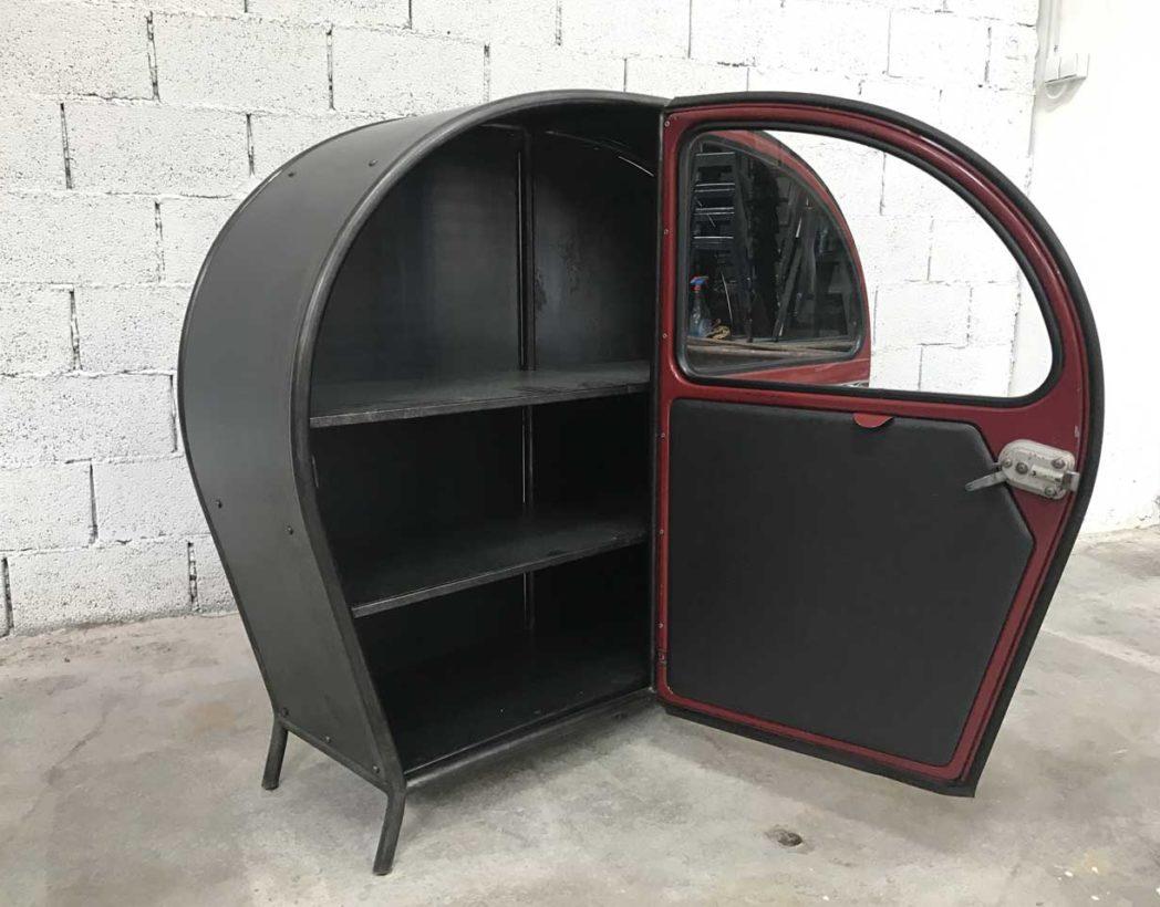 meuble-buffet-porte-2cv-citroen-bordeaux-vintage-retro-5francs-8