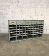meuble de metier casier atelier porte etiquette 5francs 1 1 172x198 - Ancien meuble de métier de garage gris avec tiroirs