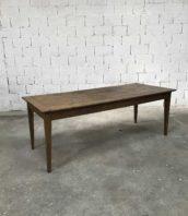 ancienne grande table ferme chene 210cm pied fuseau 5francs 1 172x198 - Ancienne table de ferme pieds fuseaux en chêne massif N°004