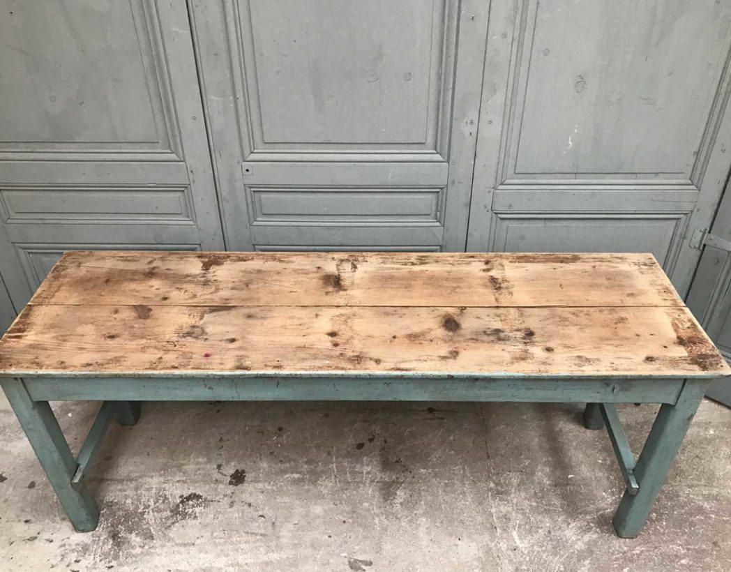 ancienne console en bois avec patine bleue d 39 origine. Black Bedroom Furniture Sets. Home Design Ideas