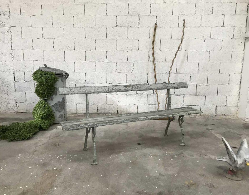 ancien-banc-jardin-fonte-bois-patine-bleue-boheme-5francs-7