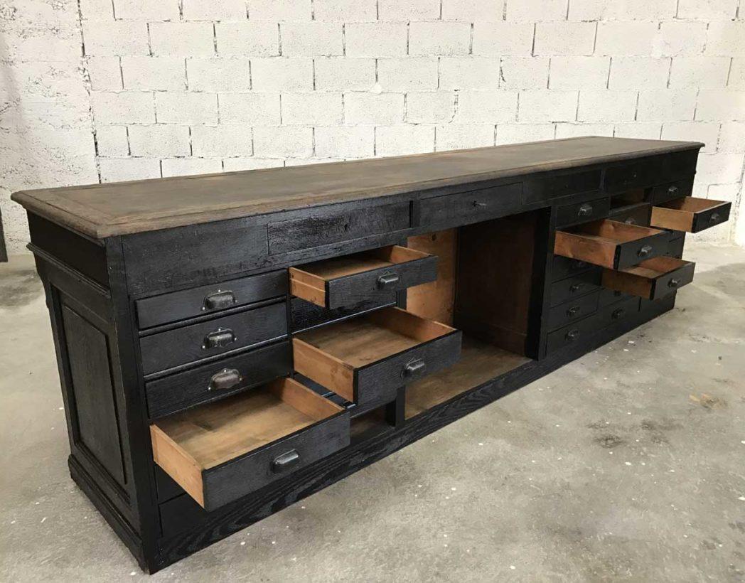 ancienne-banque-pharmacie-napoleon3-tiroirs-noire-meuble-metier-5francs-11