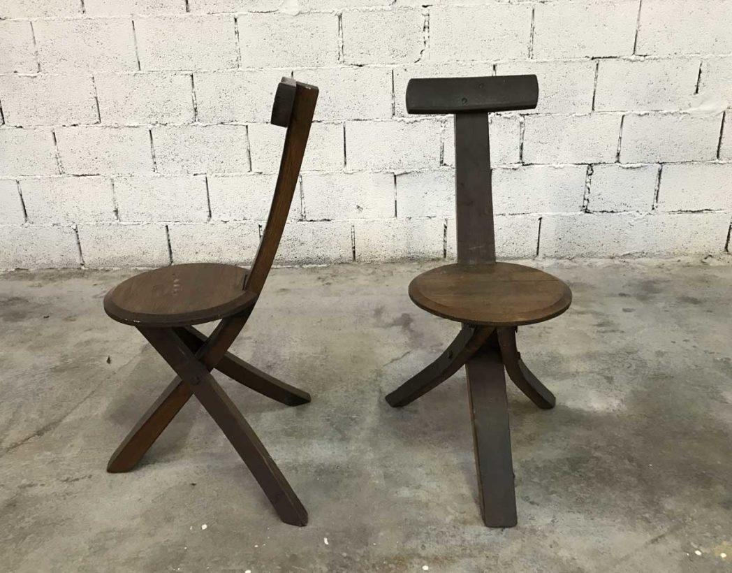 ensemble-4-chaises-primitives-bois-ligne-minimaliste-tripode-5francs-7-1
