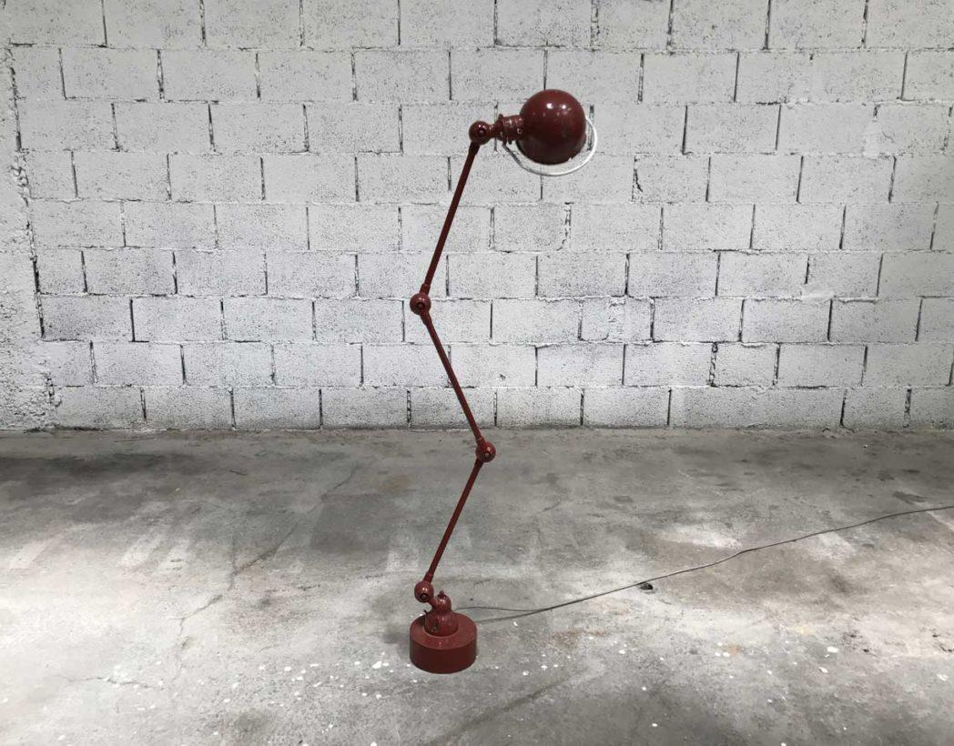 ancienne lampe d 39 atelier jield 3 bras avec patine d 39 origine. Black Bedroom Furniture Sets. Home Design Ideas