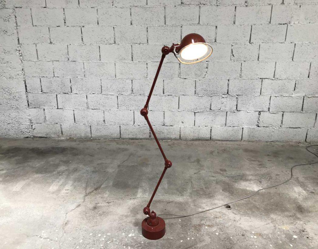 Ancienne lampe d 39 atelier jield 3 bras avec patine d 39 origine - Lampes jielde anciennes ...