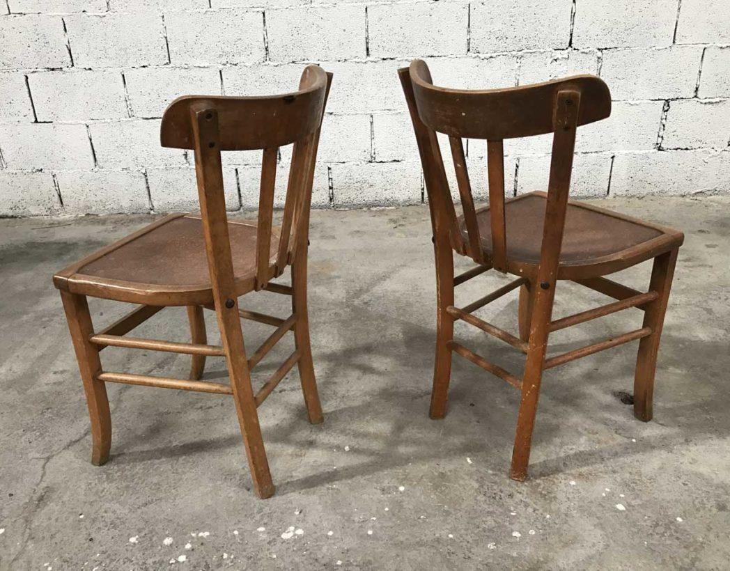ensemble de 6 chaises bistrot ann e 50 assise originale. Black Bedroom Furniture Sets. Home Design Ideas