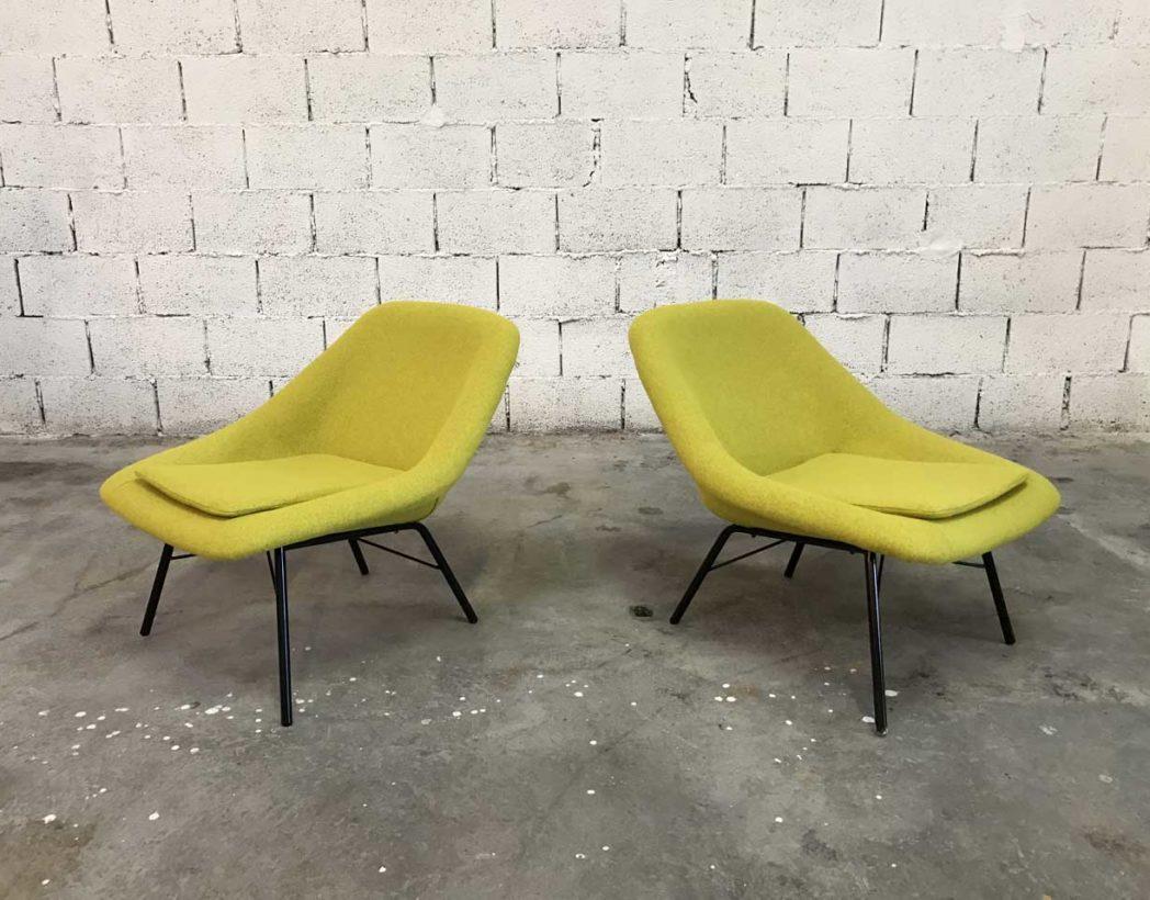 paire-chauffeuses-vintage-tissu-jaune-navratil-annee-60-5francs-2