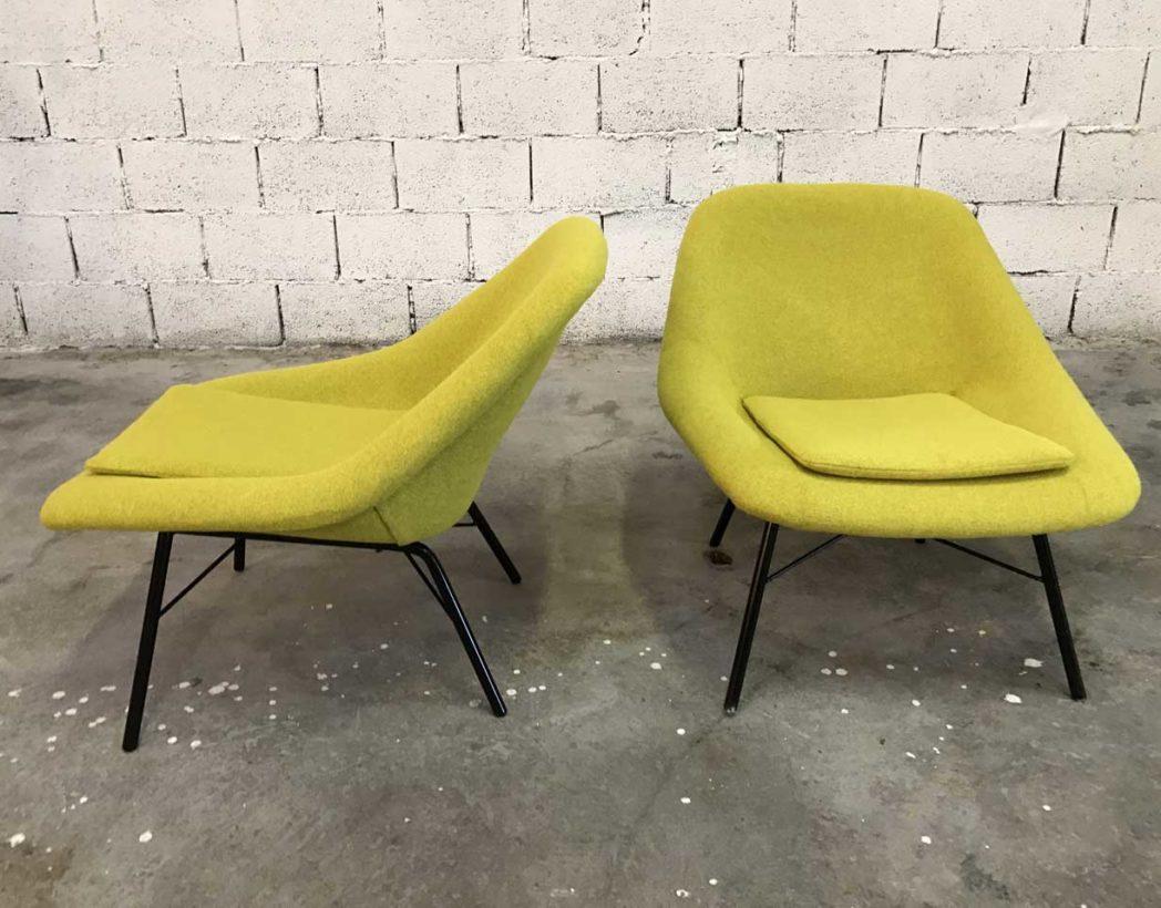 paire-chauffeuses-vintage-tissu-jaune-navratil-annee-60-5francs-4