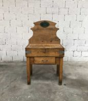 ancien petit plot de boucher meuble metier 5francs 1 172x198 - Ancien petit billot de boucher avec 1 tiroir