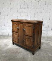 ancienne glaciere bois bar meuble de metier 5francs 0 172x198 - Ancienne glacière en bois massif 4 portes
