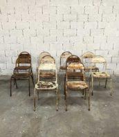 ensemble 10 chaises jardin metal patine rouille 5francs 1 172x198 - Ensemble de 10 chaises métal de jardin patine fabuleuse