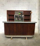 ancien comptoir bistrot bar 270cm annee50 5francs 1 172x198 - Ancien bar de bistrot complet avec arrière bar année 50 dans son jus