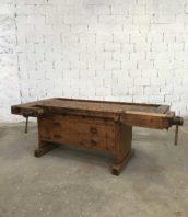 ancien etabli commode menuisier tiroirs 5francs 1 172x198 - Rare établi de menuisier à tiroirs bois massif début XXème