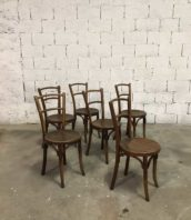 ensemble 6 chaises baumann assise ronde bistrot bar 5francs 1 172x198 - Ensemble de 6 chaises Baumann assise ronde 1930