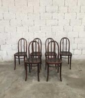 ensemble 6 chaises bistrot thonet fonce bar 5francs 1 172x198 - Ensemble 6 chaises THONET bistrot dossier arrondi