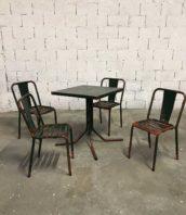 ensemble chaise t4 tolix table patine pauchard 5francs 1 172x198 - Ensemble table et chaises T4 Tolix de bistrot patine verte
