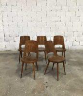 lot 5 ch2aises bistrot baumann mondor ancienne 5francs  172x198 - Ensemble 5 chaises bistrot Baumann modèle MONDOR