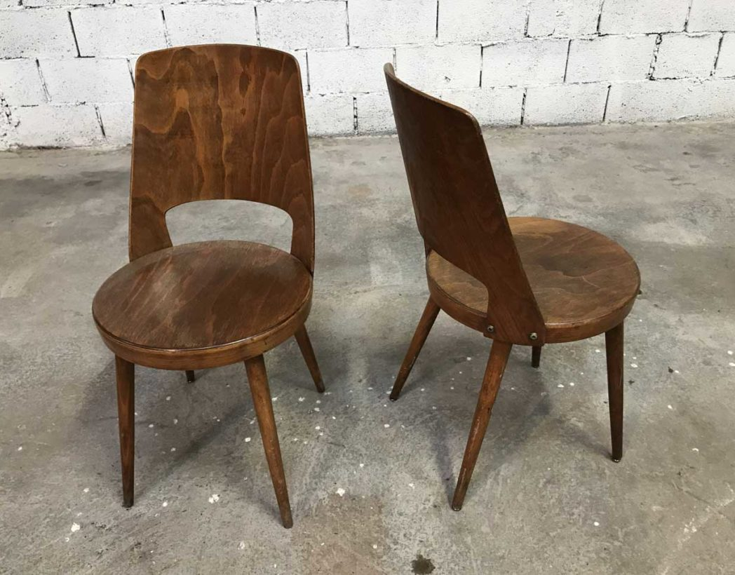 ensemble 5 chaises bistrot baumann mod le mondor. Black Bedroom Furniture Sets. Home Design Ideas