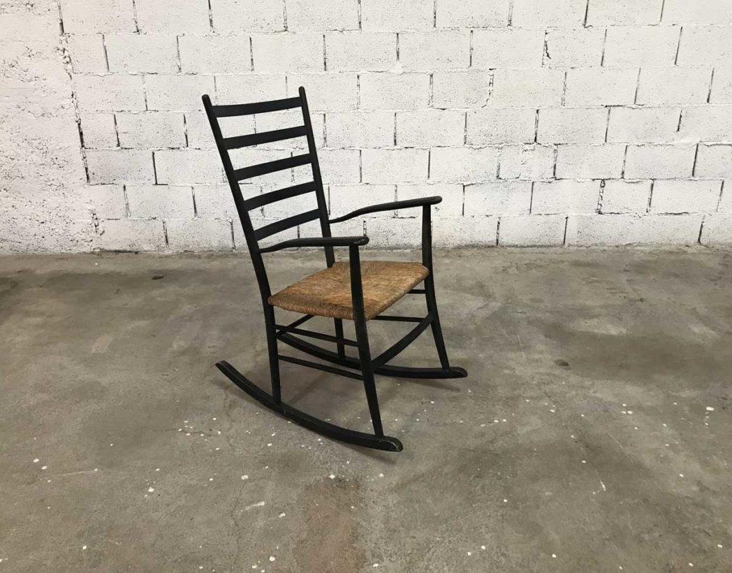 fauteuil rocking chair scandinave noir paill e d but xx me. Black Bedroom Furniture Sets. Home Design Ideas