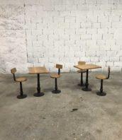table chaise fonte ecole bois exterieur banc 5francs 1 172x198 - Ensemble tables et chaises d'école en fonte et bois fin 19 ème