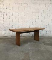 table pierre chapo designer anne60 vintage midcentury 5francs 1 172x198 - Table à manger originale en orme massif  par Pierre Chapo 1960