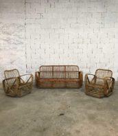 ancien salon rotin vintage annee50 5francs 1 172x198 - Ancien salon en rotin 2 fauteuils et 1 canapé vintage