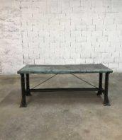 ancien etabli metal atelier pliable table industrielle 5francs 1 172x198 - Ancien établi d'usine pliable tout métal patine d'origine