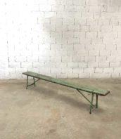 ancien petit banc vert 250cm usine ecole 5francs 1 172x198 - Ancien banc d'école  vert d'eau bois et métal en 250 cm