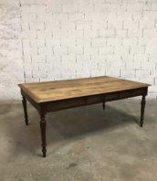 ancienne grande table travail bureau pieds tournes 5francs 1 172x198 - Ancienne grande table de travail 1930 de 200 cm