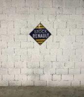 ancienne plaque emaillee stock renault double face garage 5francs 1 172x198 - Rare plaque émaillée double faces STOCK RENAULT