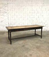 ancienne table ferme pieds tournes 216cm 5francs 1 172x198 - Ancienne table année 1900 pieds tournés en bois massif