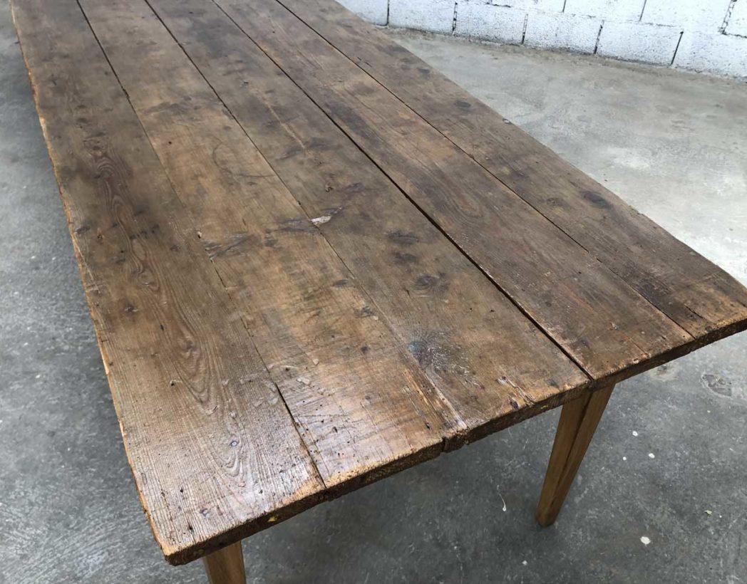 Rare ancienne très grande table de ferme 12 cm de long