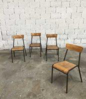 ensemble 4 chaises ecole stella vintage 5francs 0 172x198 - Ensemble de 4 chaises d'école STELLA vintage
