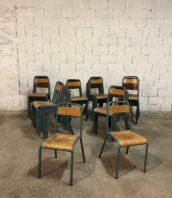 lot 44 chaise ecole stella mullca bleu vert vintage 5francs 1 172x198 - Ensemble de 44 chaises d'école STELLA vintage
