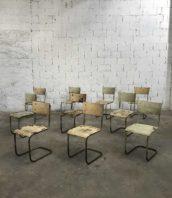 lot chaise kovona style marcel breuer annee 50 5francs 1 172x198 - Lot chaises tubulaire vintage Kovona design de Mart STAM