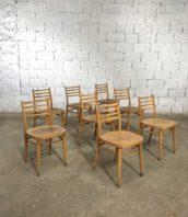 chaise bistrot bois claire vintage latte 16 5francs 1 172x198 - Ensemble 16 chaises bistrot dossier 4 lattes en hêtre claire