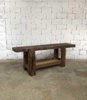 ancien etabli menuisier 210cm chene primitif meuble metier 5francs 1 172x198 - Ancien établi menuisier chêne massif 210 cm