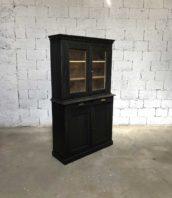 ancienne petite bibliotheque bois patine noire 5francs 1 172x198 - Ancienne petite bibliothèque patine noire en pin