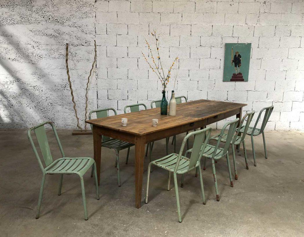Ancienne grande table de ferme 12cm