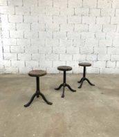ensemble 3 tabourets industriel primitif patine atelier fonte 5francs 1 172x198 - Ensemble 3 tabourets industriels fonte