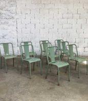 ensemble chaise tolix t4 turquoise bistrot metal 5francs 2 172x198 - Ensemble de 10 chaises TOLIX modèle T4 bistrot turquoise