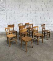 ensemble depareille chaise bistrot bar vintage 5francs 1 172x198 - Lot important chaises dépareillées bistrot