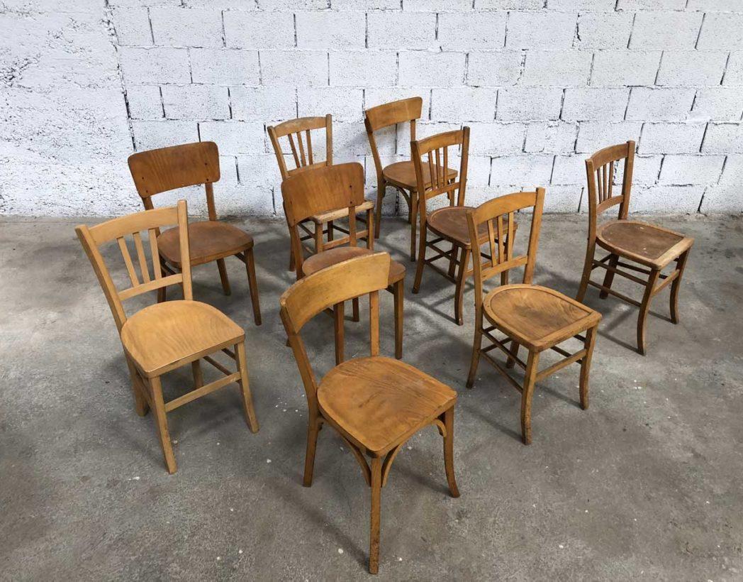 lot bistrot chaises d�pareill�es de vintage important nw0pko