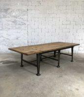 grande table industrielle bois 6 pieds 5francs 1 172x198 - Immense table industrielle 6 pieds plateau en pin massif 290cm
