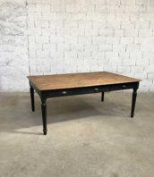 grande table travail ancienne bois pied tourne meuble metier 5francs 1 172x198 - Ancienne grande table de bureau 196cm en bois massif