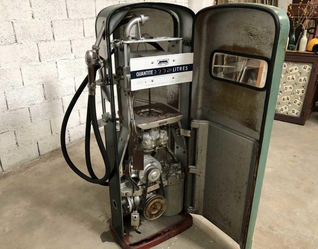 Ancienne pompe essence BOUTILLON complète verte