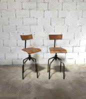 paire chaises atelier haute industrielle reglable 5francs 1 172x198 - Paire de chaises hautes atelier