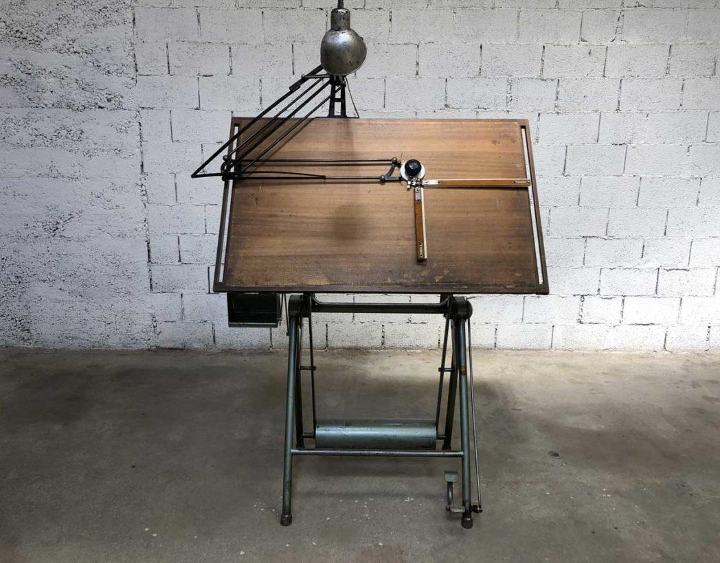 ancienne table d 39 architecte heliothite. Black Bedroom Furniture Sets. Home Design Ideas