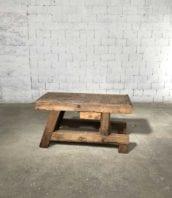 ancien gros etabli menuisier 149cm pied original 5francs 1 172x198 - Ancien gros établi d'atelier en chêne massif 214 cm